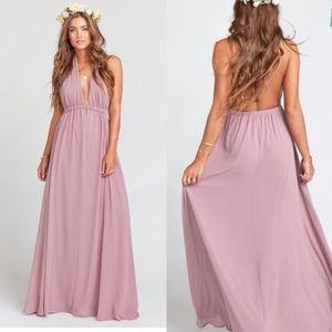 Show Me Your Mumu Luna Halter Gown Dress M